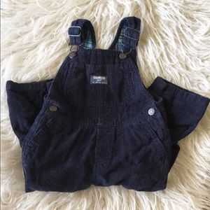 Toddler Boys Corduroy Lined Overalls